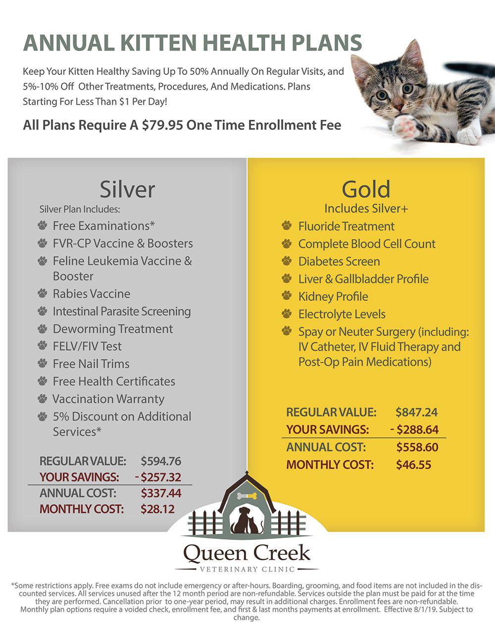 Kitten Wellness Plans